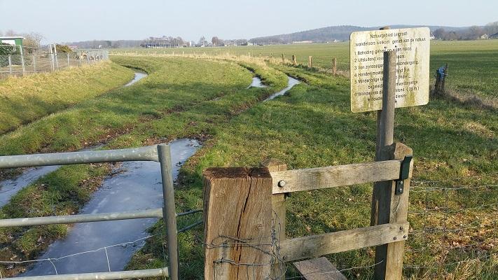 Natuurgebied langs de Leigraaf tijdens wijnwandeling van Wanda Catsman in Groesbeek