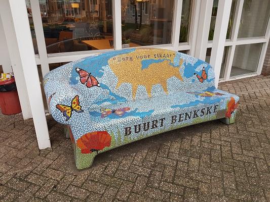 Buurt Benkske in Helmond-Noord tijdens een wandeling Ontdek de Kunst van Brabant Vertelt