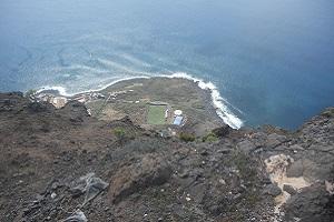 Zicht op noordkust bij La Calera op wandelreis naar Canarisch Eiland La Gomera