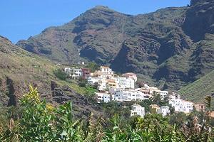 Zicht op La Calera in Valle Gran Rey op wandelreis naar Canarisch Eiland La Gomera