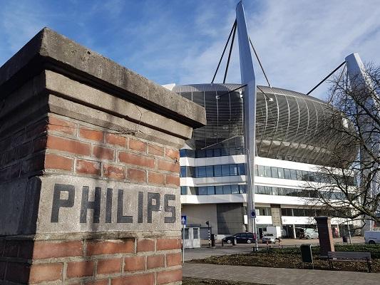 Philips en PSV-stadion tijdens een wandeling over het Philipspad van Gegarandeerd Onregelmatig in Eindhoven