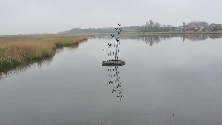 Wandeling op Texel van Cocksdorp naar Oosterend bij de Roggesloot
